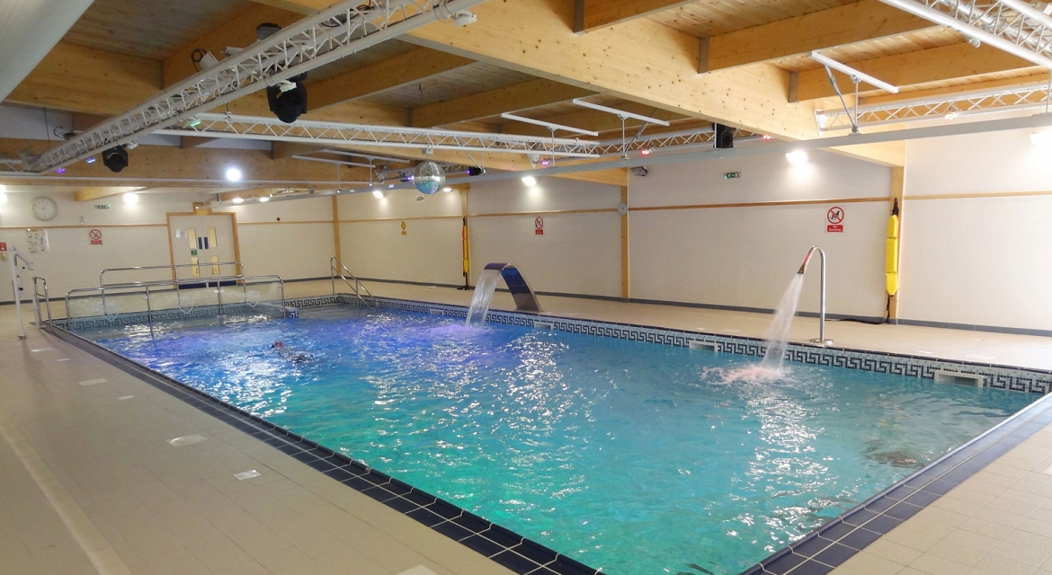 Hydrotherapy pools indoor pools for Pool design standards