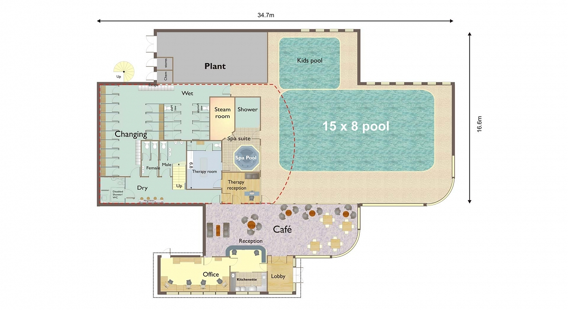 Pool layout affordable adding a gas heater plumbing for Pool layout design