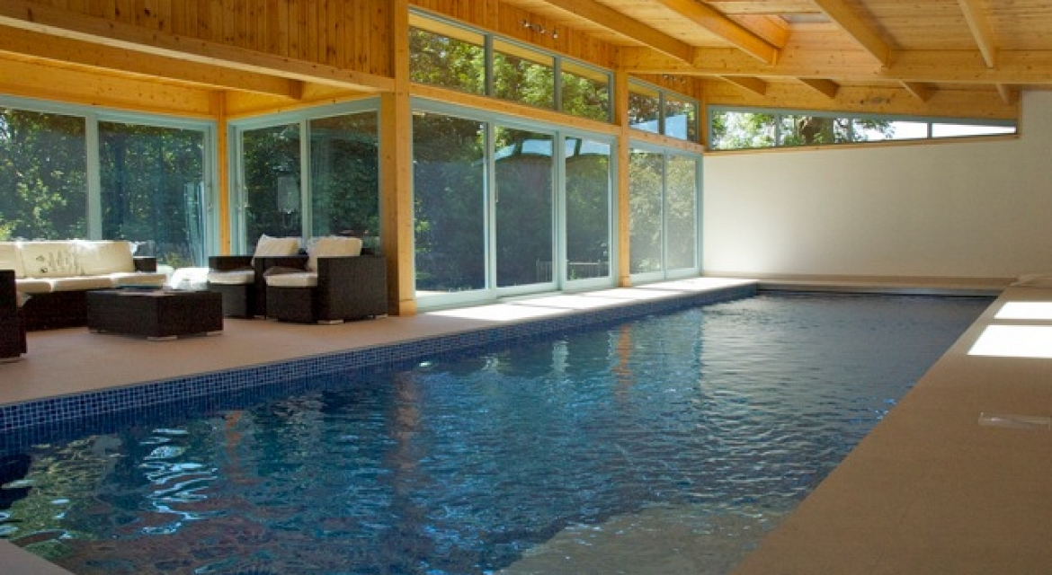 Swimming Pool Extension : Contemporary house extension with indoor pool in scotland