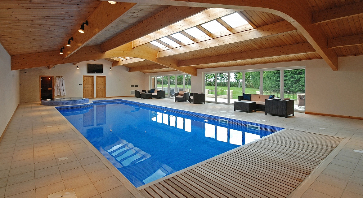 Residential indoor pools indoor pools for Swimming pool design uk