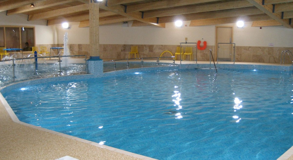 Indoor swimming pool by Pinelog at Sunbeach